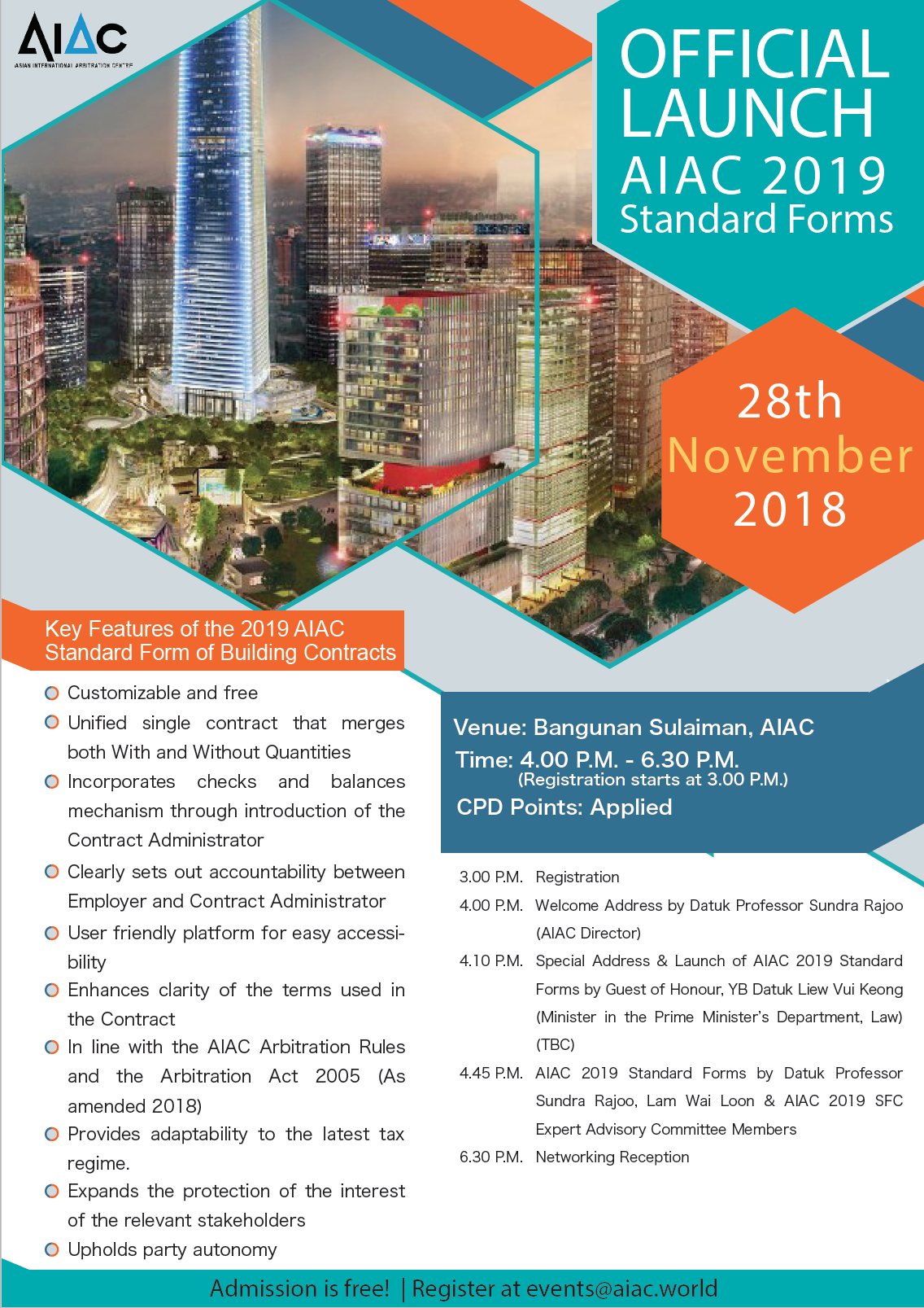 Aiac Official Launch Of Aiac 2019 Standard Form Building Contracts